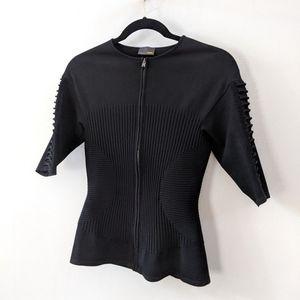 NEW Fendi 3/4 Sleeve Stretch Zip Blazer IT 40